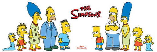 Simpson family 1987 vs. 1989