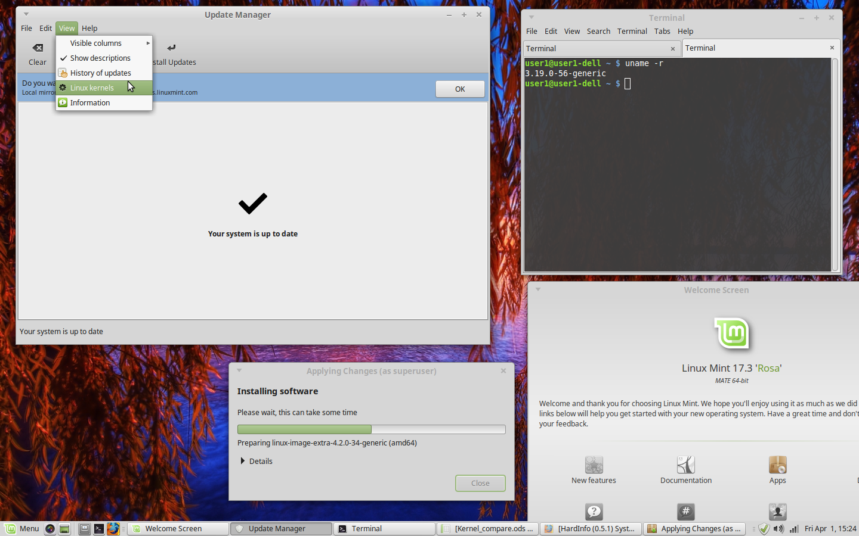 Linux Mint Kernel Upgrade | Internet Tablets and MID