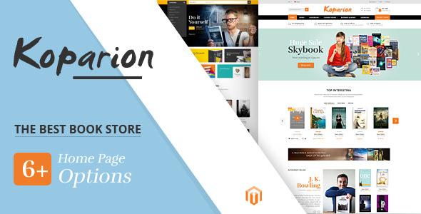 KOPARION V1.0 - BOOK SHOP RESPONSIVE MAGENTO THEME - Gama WordPress ...