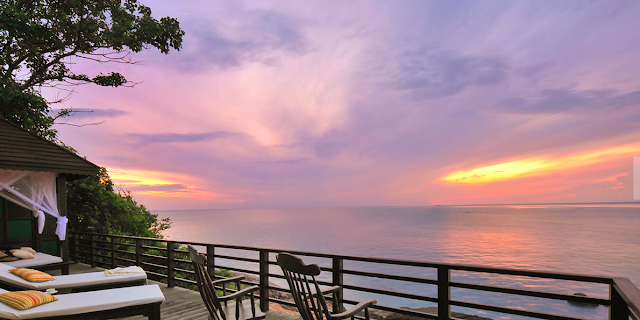 Sunset from The Tongsai Bay Resort on Koh Samui, Thailand