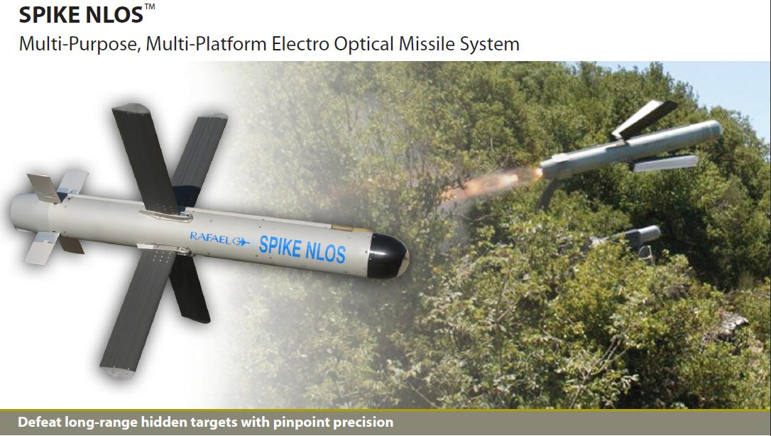 Israel Rafaels SPIKE-NLOS Missile Systems used by Brazil