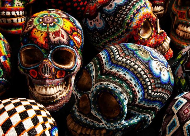 Изысканные черепа. Huichol Skull 22