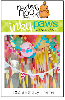 Inky Paws Challenge #22 | Birthday Theme | Newton's Nook Designs