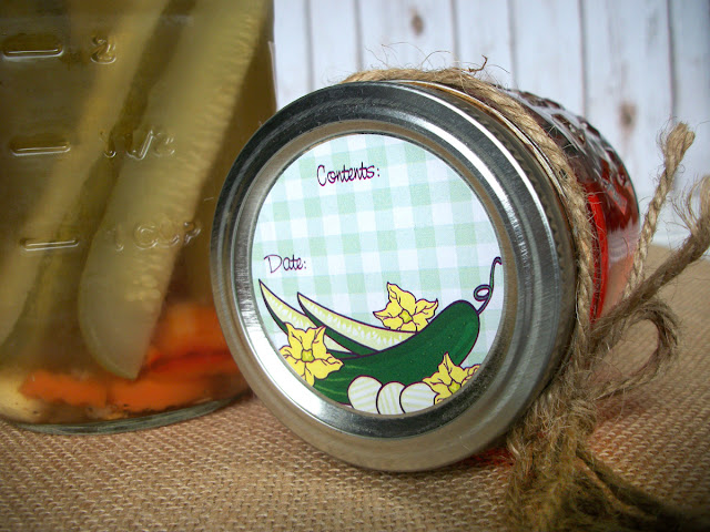 Classic Pickle Canning Jar Labels
