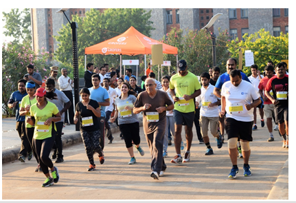 IMT Hyderabad organizes Trail Marathon in nature's lap.