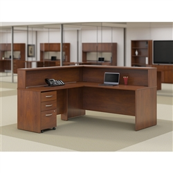 Bush reception desk with reversible return