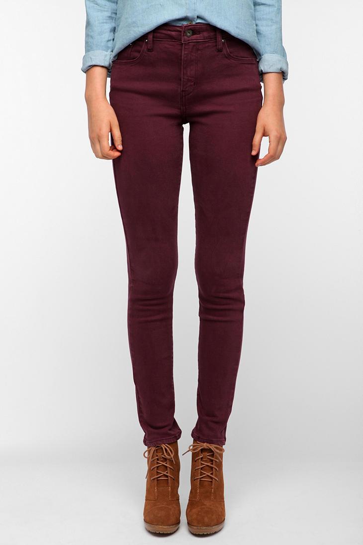 Burgundy Corduroy Jeans