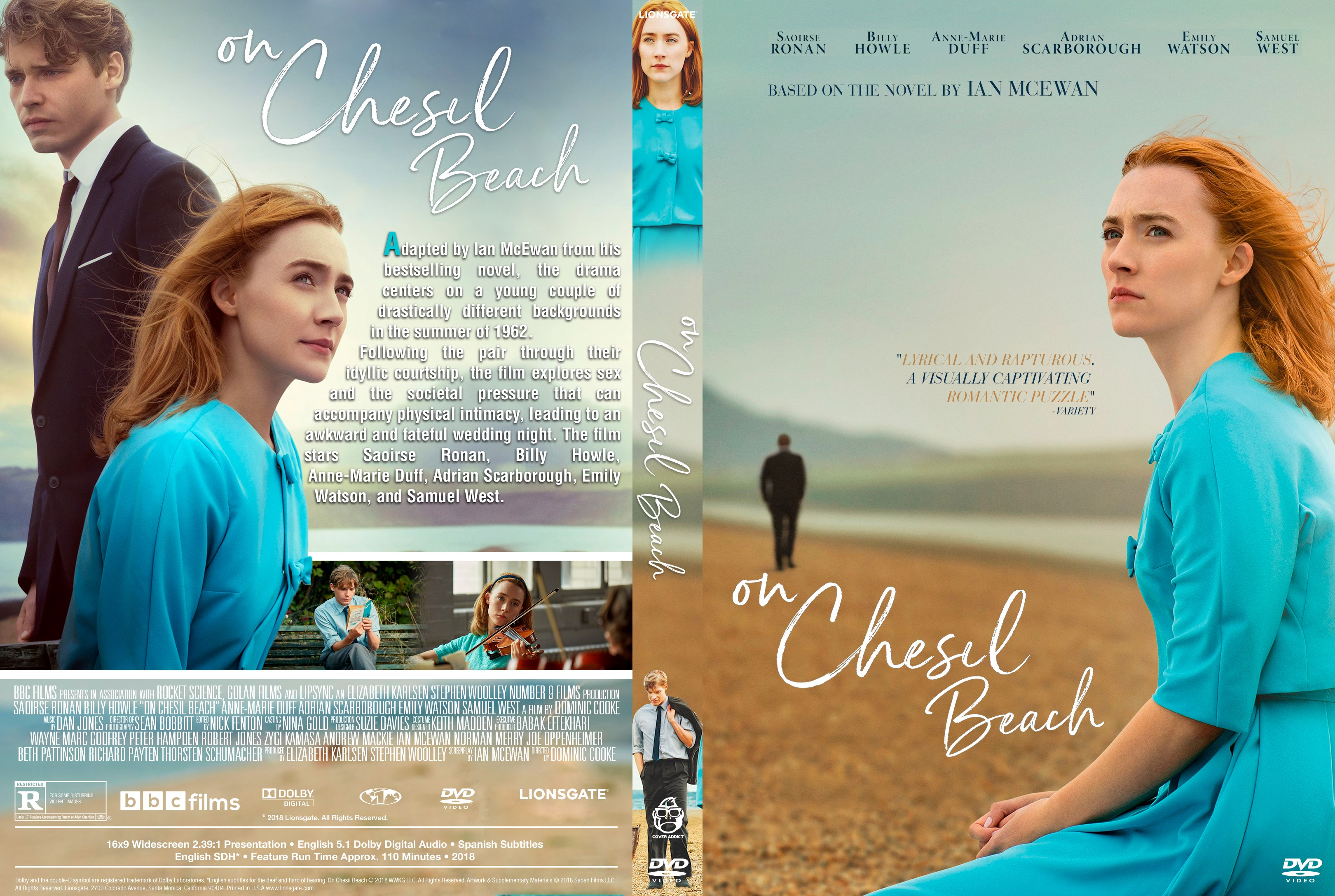 On Chesil Beach DVD Cover | Cover Addict - Free DVD ...