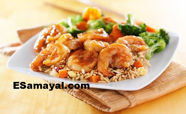 இறால் ஃப்ரைடு ரைஸ் செய்முறை | Prawn Fried Rice Recipe !