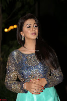 Nikki Galrani in Green Skirt  Top at Marakathamani music launch ~  Exclusive (92).JPG