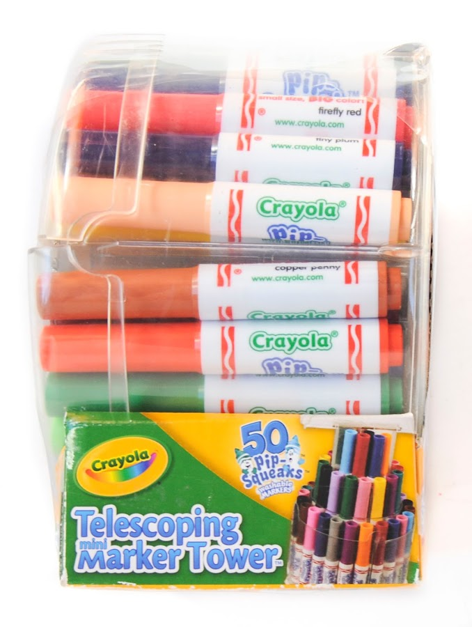 crayola 50 telescoping pipsqueaks tower 588750 arts and crafts
