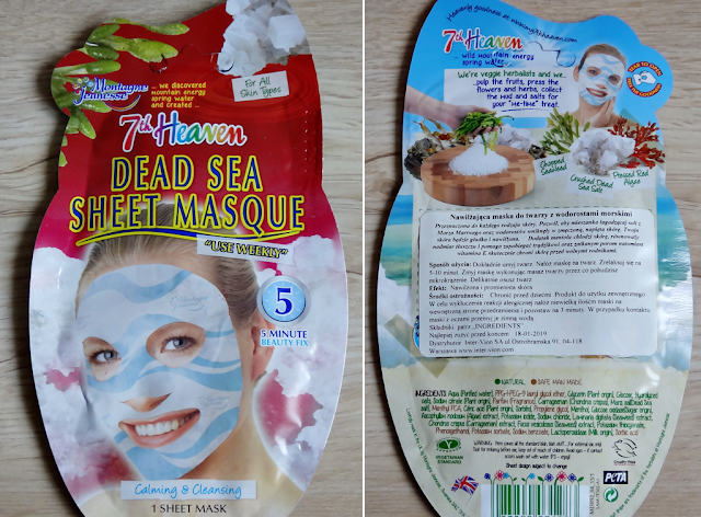 Dwie maseczki 7th Heaven (Montagne Jeunesse) - Dead Sea Sheet Mask, Green Tea Peel off