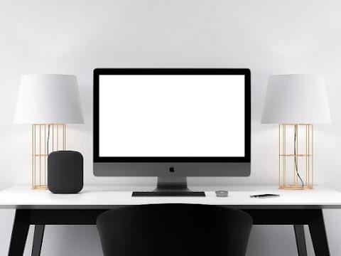 Black iMac Pro on Table Mockup