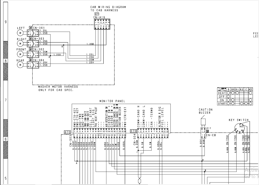 ELECTRICAL CIRCUIT DIAGRAM D31EX-22 PART 4