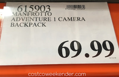 Deal for the Manfrotto Adventure 1 Camera Backpack at Costco