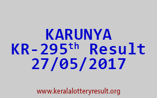 KARUNYA Lottery KR 295 Results 27-5-2017