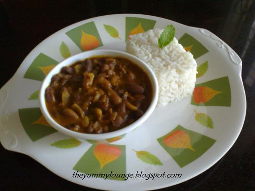 North Indian Restaurant Style Punjabi Rajma Chawal Recipe