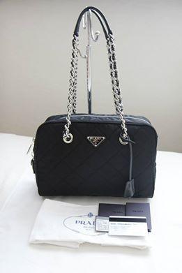 85ec681c653f86 I Want Bags backup: Prada BL0903 Tessuto Impuntu Quilted Bag-Nero ...