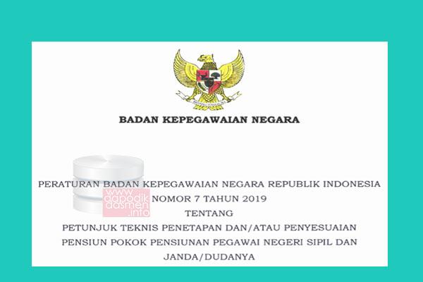 Peraturan BKN Nomor 7 Tahun 2019 Tentang Juknis Pokok Pensiunan PNS