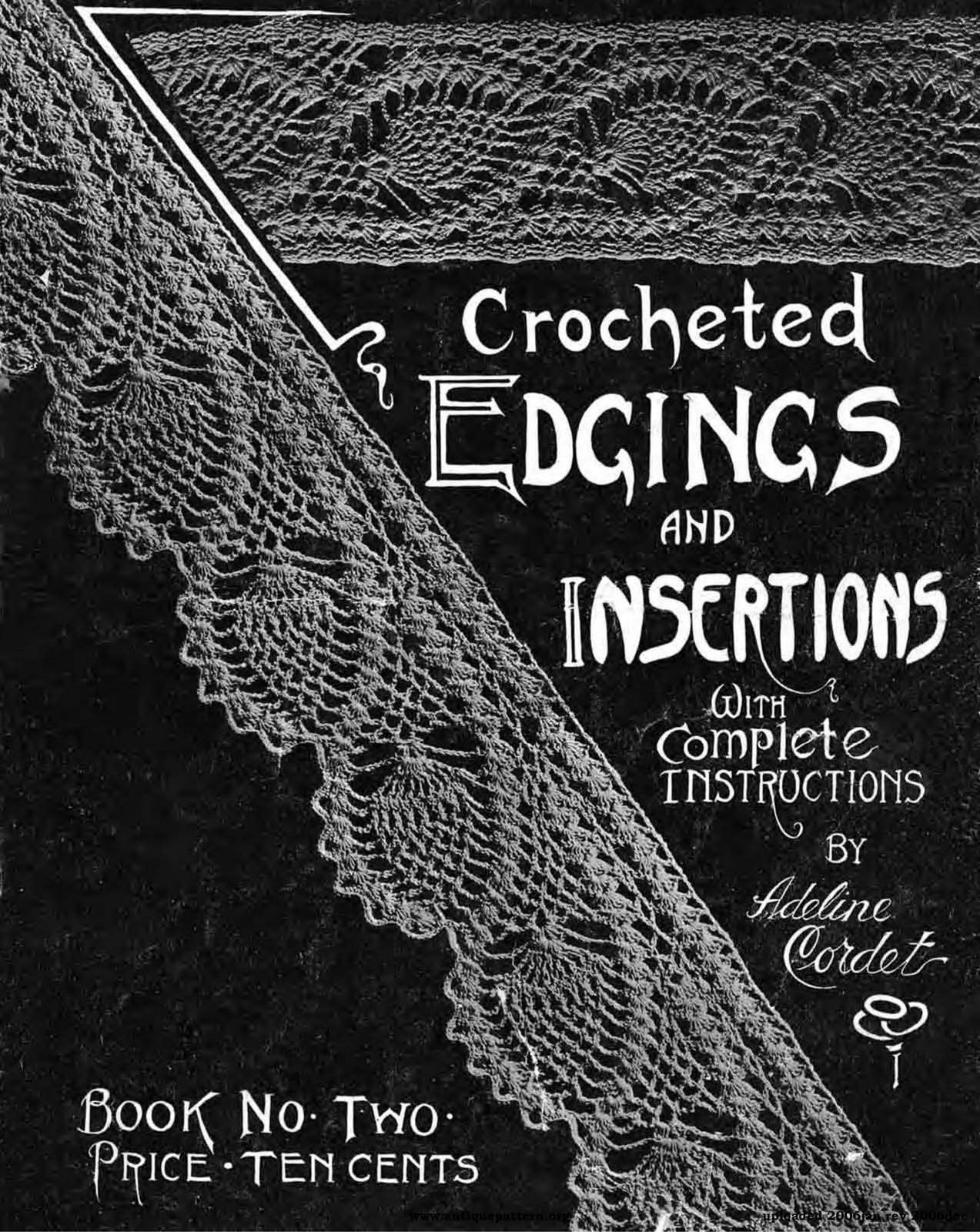 1910's Crochet - Edgings and Insertions Book 2