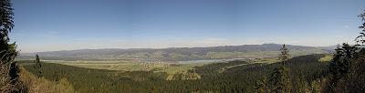 Panorama północna ze skalnej ambony