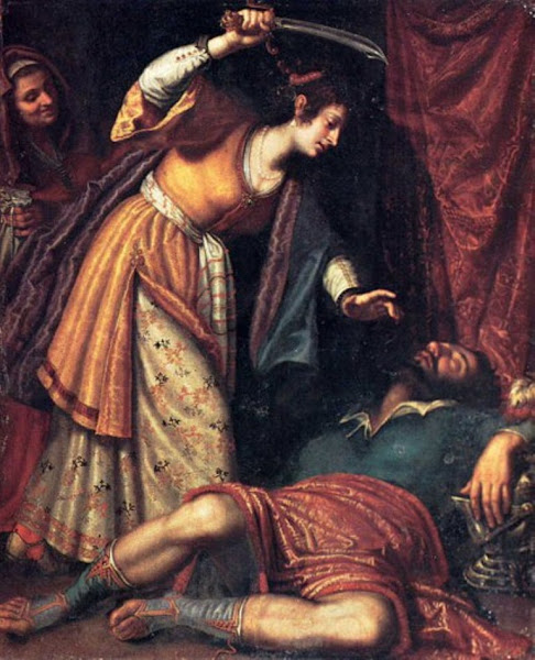 Judith and Holofernes by Bartolomeo Salvestrini, Macabre Art, Macabre Paintings, Horror Paintings, Freak Art, Freak Paintings, Horror Picture, Terror Pictures