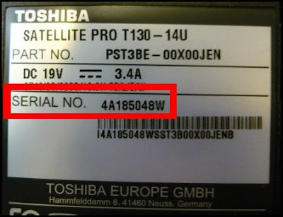 Laptop Serial Number