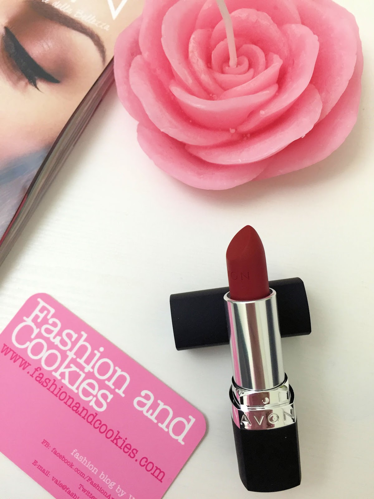 Avon Perfectly Matte Lipstick Red Supreme on Fashion and Cookies beauty blog, beauty blogger