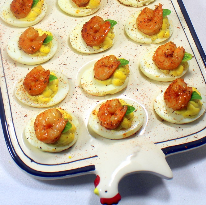 52 Ways to Cook: Cajun Blackened Shrimp Deviled Eggs
