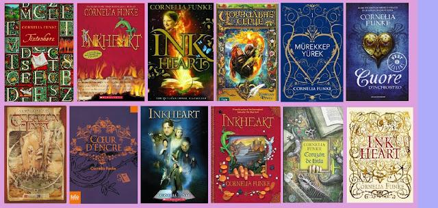 portadas del libro infantil-juvenil de fantasía Corazón de Tinta, de Cornelia Funke