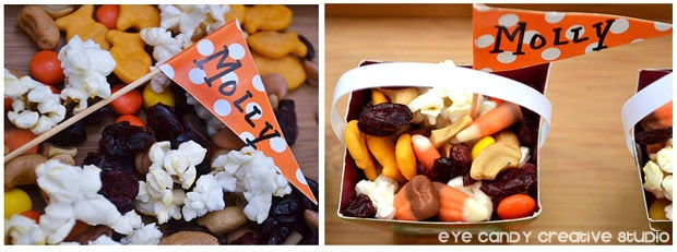 kids place setting idea, thanksgiving kids table, trail mix for the kids