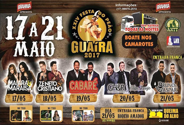 Festa do Peão de Guaira SP 2017