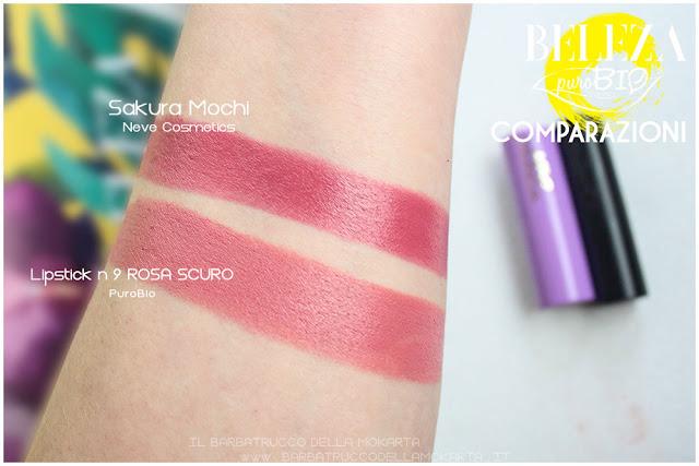 beleza purobio collezione  lipstick 9  rosa scuro review  comparazioni