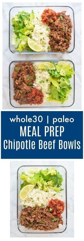 Meal Prep Chipotle Beef Bowls (Whole30 Paleo)