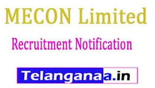 MECON Limited Recruitment Notification 2017