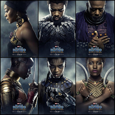 Black Panther Movie Poster Character Collage