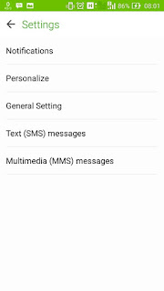 Menu Settings Personalize Asus Zenfone 5