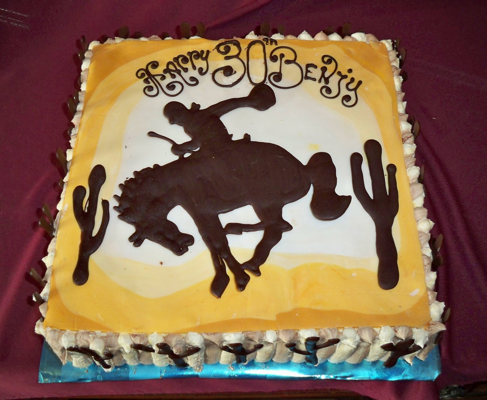 Wild West Horse Rider Birthday Cake Elisabeths Wedding Cakes