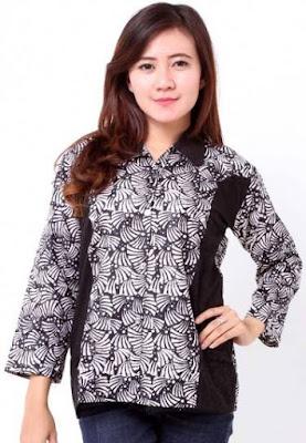 model baju batik wanita lengan panjang untuk remaja