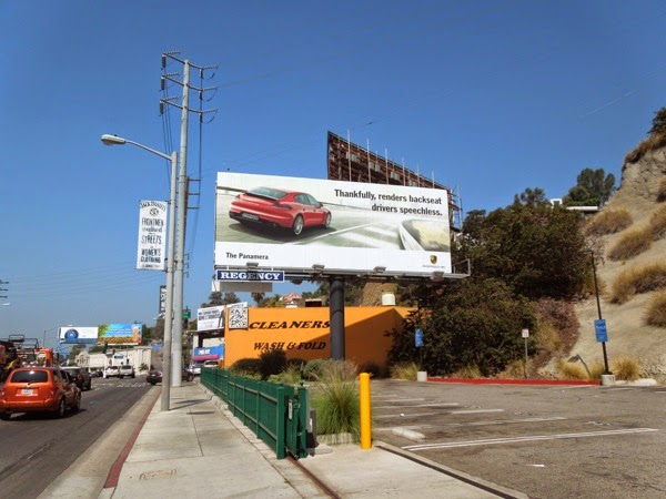 Porsche Panamera billboard Sunset Strip