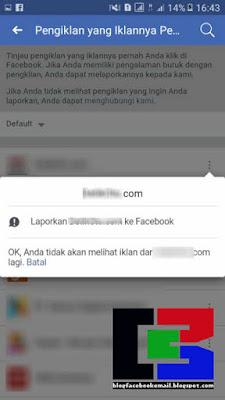 cara menghilangkan iklan di facebook versi hp android