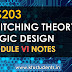 CS203 Switching Theory and Logic Design Module-6 Note
