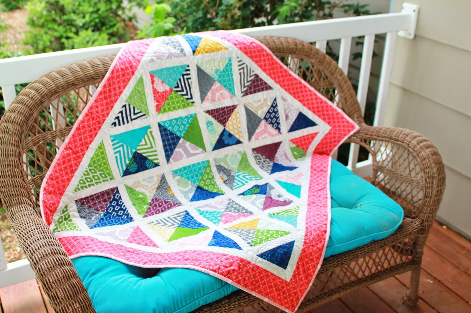 Girls In The Garden Lattice Quilt With Simply Style Fabric