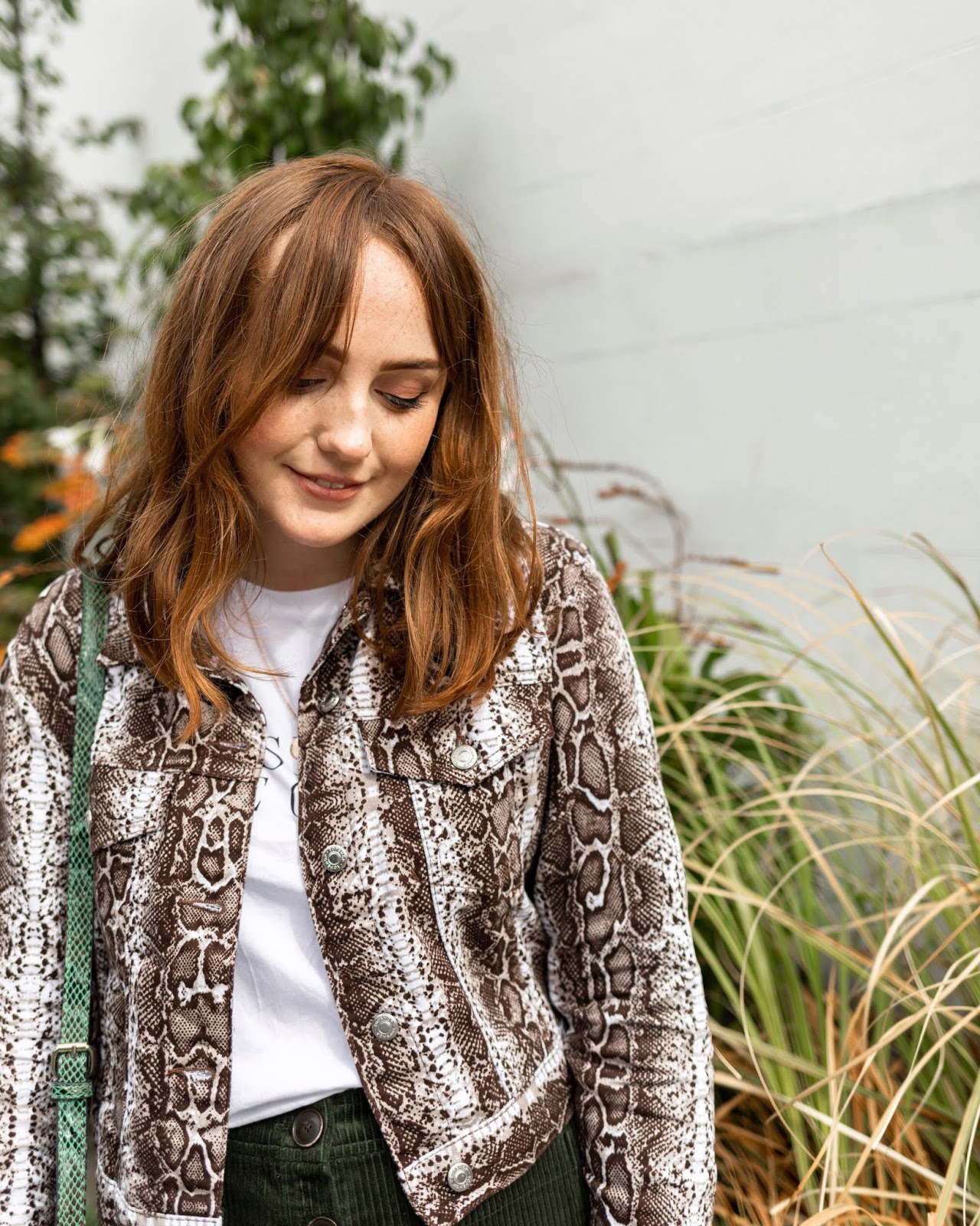Liverpool fashion blogger wearing topshop snake print denim jacket