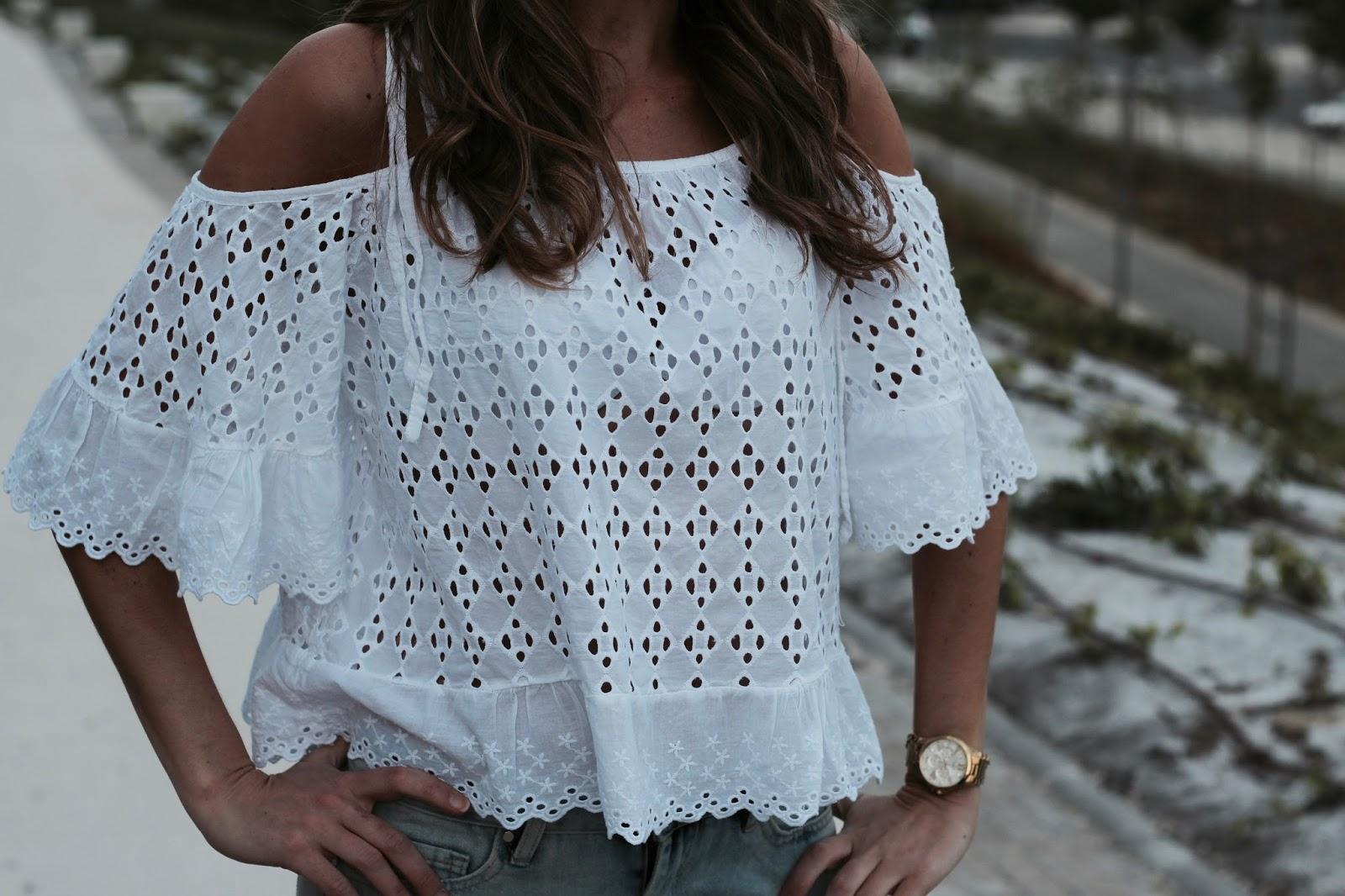 blusa troquelada