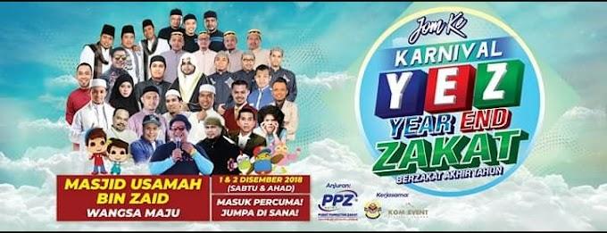 Grand Cabutan Bertuah Bernilai RM 2500 di Karnival Year End Zakat (YEZz) 2018 Pada 1 &2 Dis 2018