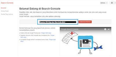 Google Webmaster Beranda