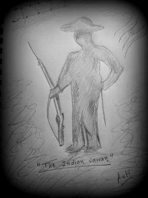 Indian Army Jawan - Pencil sketch