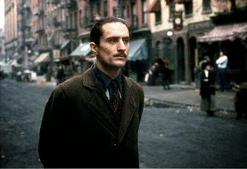 Robert De Niro as the young Vito Corleone in The Godfather: Part II, Directed by Francis Ford Coppola