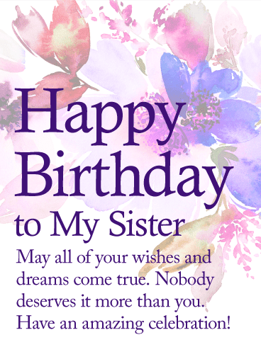 birthay wishes for sister